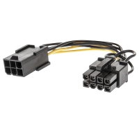 Lindy 1x 6 pin F to 1x 8 pin M PCIe Power Adapter