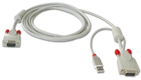 Combined KVM cable for LINDY U Series KVM Switches, 1m
