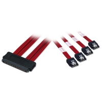 Lindy Internal SAS to 4 x SATA II Multilane Cable, 1m