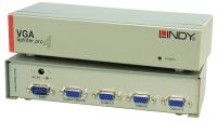 Lindy 4 Port VGA Splitter Pro, 450MHz