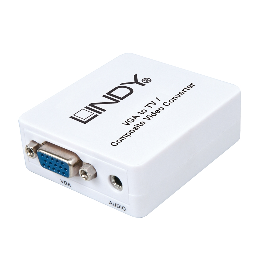 Lindy Vga To Tv Converter Lite Dcp Sia Gold Toslink Spdif Digital Optical Cable 2m