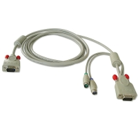 Combined KVM cable for LINDY P16 / PXT & U Series KVM Switches, 2m