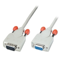 Lindy Serial Extension Cable (9DM/9DF), 10m