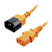Lindy IEC Extension Cable, Orange, 1m