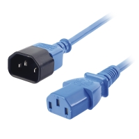 Lindy IEC Extension Cable, Blue, 0.5m
