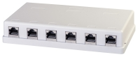 Lindy Cat.6 wall mount box, white, 6x STP Gigabit