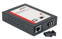 Lindy LC Gigabit Ethernet Fibre Optic Converter, 1000Base-T to 1000Base-SX/LX, Multi-mode