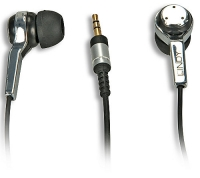 Lindy Earphone, Black - With small 2.5mm connector, i.e. for many smartphones