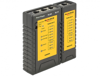 Delock Cable Tester RJ45 / RJ12 + Portfinder