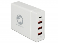 Navilock USB Charger 1 x USB Type-C™ PD + 3 x USB Type-A white