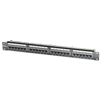 "ROLINE Cat.5e 19"" Patch Panel, 24 Ports, UTP, black"