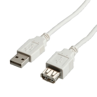 VALUE USB 2.0 Cable, A - A, M/F, 1.8 m