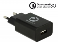 Navilock Charger 1 x USB type A with Qualcomm® Quick Charge™ 3.0 black