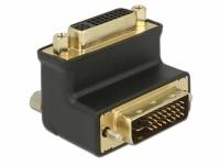 Delock Adapter DVI 24+1 male > DVI 24+5 female port 90° angled
