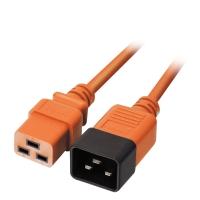 Lindy IEC C19 to C20 Extension Cable, Orange, 1m