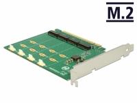 Delock PCI Express x16 Card > 4 x internal NVMe M.2 Key M - Bifurcation