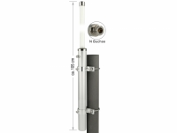 Delock GSM UMTS Antenna N Jack 7 dBi 75.6 cm omnidirectional fixed wall and pole mounting white outdoor