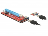 Delock Riser Card PCI Express x1 - x16 with 60 cm USB cable