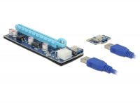 Delock Riser Card PCI Express x1 > x16 with 60 cm USB cable