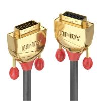 Lindy 2m DVI-D Dual Link Extension Cable, Gold Line