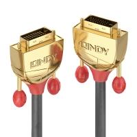 Lindy 10m DVI-D Dual Link Cable, Gold Line