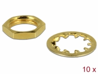 Delock Nut and Locking Ring for SMA and RP-SMA jack bulkhead