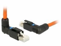 Delock RJ45 Plug field assembly Cat.6A angled