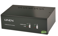 Lindy 2 Port Dual Head Single Link DVI-I KVM Switch Pro with TTU