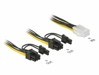 Delock PCI Express power cable 6 pin female > 2 x 8 pin male 15 cm