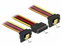 Delock Kabel SATA 15 Pin Strom Stecker mit Einrastfunktion > 2 x SATA 15 Pin Strom Buchse 30 cm
