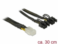 Delock PCI Express power cable 6 pin female > 2 x 8 pin male 30 cm