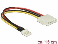 Delock Cable Power Floppy 4 pin male > Molex 4 pin female 15 cm