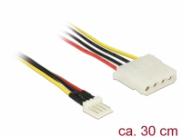 Delock Cable Power Floppy 4 pin male > Molex 4 pin female 30 cm