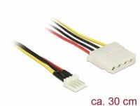 Delock Cable Power Floppy 4 pin male > Molex 4 pin female 30 cm