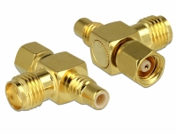Delock Adapter SMC jack > SMC plug > SMA jack T-piece