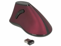 Delock Ergonomic vertical optical 5-button mouse 2.4 GHz wireless