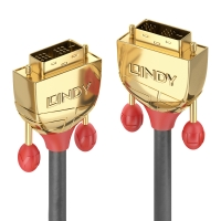 Lindy 25m DVI-D SLD Single Link Cable, Gold Line