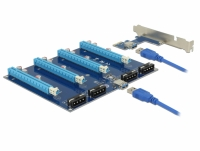 Delock Riser Card PCI Express x1 > 4 x PCIe x16 with 60 cm USB cable