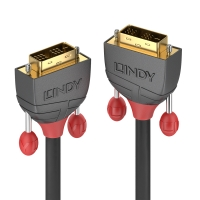 Lindy 10m DVI-D SLD Single Link Cable, Anthra Line