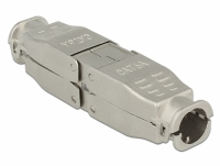 Delock Coupler for network cable Cat.6A STP toolfree
