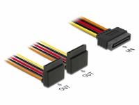 Delock Cable SATA 15 pin power plug with latching function > 2 x SATA 15 pin power receptacle up 15 cm