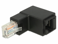 Delock Adapter RJ45 plug angled > RJ45 jack Cat.6 UTP