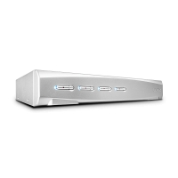 Lindy 4 Port DVI-I Single Link, USB 2.0 & Audio KVM Switch Pro