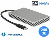Delock Thunderbolt™ 3 External Portable 240 GB SSD M.2 PCIe NVMe