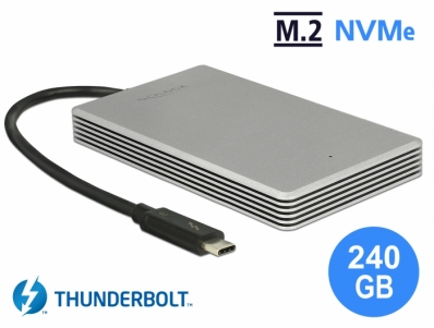Delock Thunderbolt™ 3 External Portable 240 GB SSD M.2 PCIe NVMe