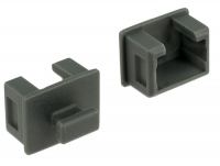 Delock Dust Cover for Fire Wire 1394A 6 pin female with grip 10 pieces grey