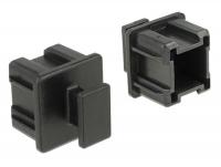 Delock Dust Cover for Mini SAS HD SFF 8644 female with grip 10 pieces black