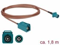 Delock Antenna Cable FAKRA Z plug > FAKRA Z jack RG-316 1.8 m