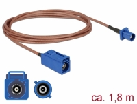 Delock Antenna Cable FAKRA C jack > FAKRA C plug RG-316 1.8 m