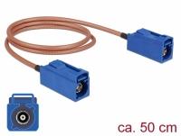 Delock Antenna Cable FAKRA C jack > FAKRA C jack RG-316 50 cm